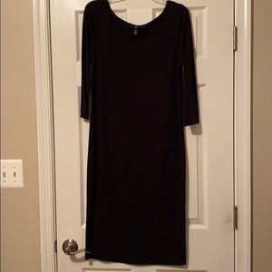 Gap Basic Midi Black Dress